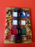 MICHAEL JORDAN LARRY BIRD MAGIC JOHNSON HAKEEM DOMINIQUE JERSEY CARD #13/15 LEAF