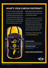 2009 Mini Cooper yellow - Footprint - Classic Vintage Advertisement Ad D202