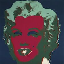 ANDY WARHOL: Marilyn Monroe 1967 blue, red PRINT POSTER ** OUT OF PRINT LAST ONE