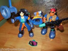 FISHER PRICE RESCUE HEROES 2 FIGURE OPTIC FORCE BIOLOGIST CAMERMAN PHOTOGRAPHER