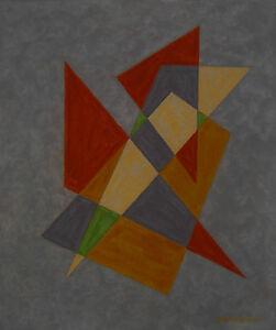 Emil Bisttram New Mexico Modernist 1940 Pristine Condition Geometric Abstraction