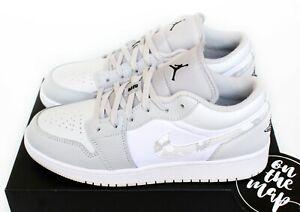 Nike Air Jordan 1 Retro Low SE Smoke Grey Fog Camo White UK 3 4 5 6 7 US New