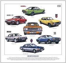 FORD GRANADA - Fine Art Print - Ghia Sapphire Consul GT Coupe Injection Mk1 Mk2