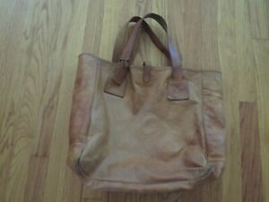 Vintage Polo Ralph Lauren Leather Tote Bag, Made in Italy