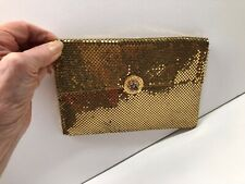 Vintage Whiting and Davis International Gold  Clutch