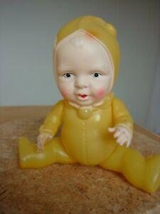 Unusual Antique/Vintage Celluloid Snow Baby doll 15cm