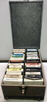 Vintage 8 Track Tape Case Rare W/Lid and 26 Classic Country Music 8-Track Tapes