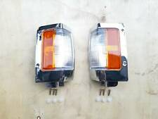 Chrome Corner Side Signal Lamp Light For Nissan D21 Pickup 1990-97 Pair & Clip