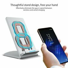 Fast Wireless Charger Stand For iPhone XS X 8 8+Samsung Galaxy S9 S7 Edge S8 S8+