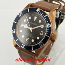 41mm Corgeut Black Dial Steel Case Automatic Men's Casual Wristwatch