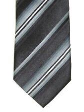 "Alfani Men's Silk 2-5 Core Striped Neck Tie Black Gray Skinny 3 1/4"" x 59"""