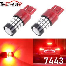 7443 Led Strobe Flashing Blinking Brake Tail Light Parking Safety Warning Bulbs Fits 2004 Honda Civic