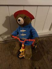 Plush Padington Bear Cycling On Trike Bike With Music Toy