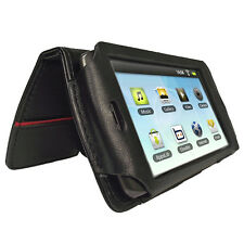 Black Genuine Leather Case Cover for Archos 43 Android Internet Tablet 4.3 16gb
