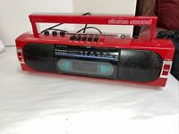 Realistic Vintage Retro Old School AM/FM Cassette Player Radio Red SCR-35