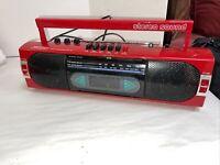 Realistic Vintage Retro Old School AM/FM Cassette Player Radio Red SCR-35