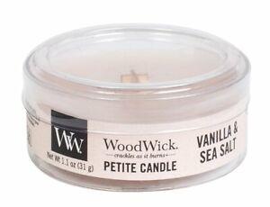 Wood Wick Petite Yankee Candle Vanilla And Sea Salt 1.1 oz Lot Set of 3 NEW