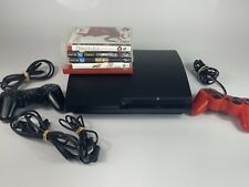 Sony PlayStation 3 PS3 Slim Console CECH-2001A 120GB, 5 Games Bundle, Tested!