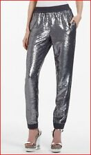 BCBG MAXAZRIA ZHARA GREY COMBO SEQUINED PANT SIZE M NWT $398-RackE/130