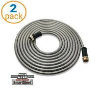 2 PACK Hose Hero As Seen On TV Smart Steel Lightweight 25 Feet Metal Garden Hose