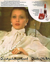 PUBLICITE ADVERTISING 064  1975  CHARLES OF THE RITZ   cosmétiques
