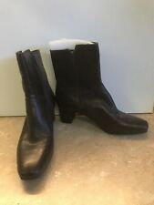 Nine West Brown Leather Side Zip Fashion Ankle Boots Booties 8 M Dender
