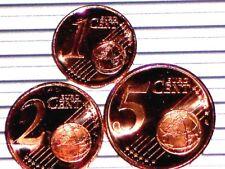Finlande 2000 Serie 1,2,5 centimes Euro Piece De Rouleaux Unc Qualite Premium