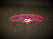 Canadian Scottish reproduction printed badges WWII Battledress