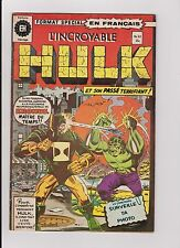 "1976 Marvel Heritage Editions French ""The Incredible Hulk"" Comic Book #63"