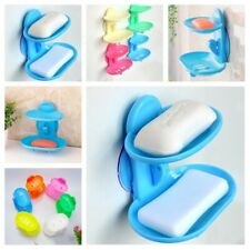 Strong Suction Soap Holder Double Dish Tray Cup For Shower Bathing Accessories