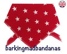 Dog Bandana, Handmade, Cotton Dog Bandanas, UK, Neck Scarf, Stars, Dog Scarf