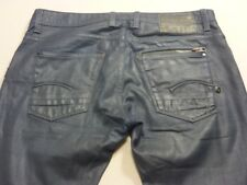 028 MENS EX-COND G-STAR RAW ATTACC LOW STR8 NAVY JEANS SZE 36 / 32 L $230 RRP.
