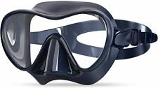 Snorkel Diving Mask Swim Mask Swimming Goggles with Nose Cover,Anti-Fog Tempered