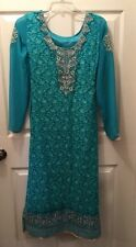 NWT CBazaar Women's Beaded Indian Ethnic Fashion Dress Size XS Party Wedding