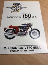 MV Agusta 750  Prospekt Broschüre Brochure Depliant 70er
