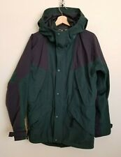 Eastern Mountain Sports EMS Gore-Tex Jacket Hood Zip Snap Green Black Lined S