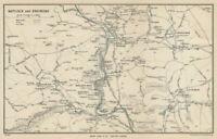 MATLOCK environs vintage tourist map Bath Cromford Derbyshire WARD LOCK 1950