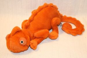 "Jellycat Vividie Chameleon Orange Plush 16"" Loveable Lizard Stuffed Animal"