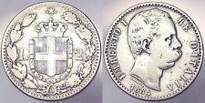 2 Lire 1884  Umberto I Regno d'Italia Italy Argento Silver #5247