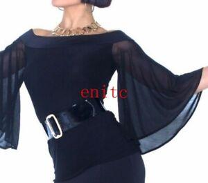 Women Top for Latin salsa cha cha tango Ballroom Strapless Collar New Chic Shirt