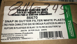 Amerimax Home Product 86670 3ft Snap-In Filter Gutter Guard ~ 75 LF Per Bx White