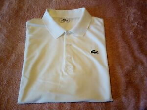 LACOSTE `Sport` Polo Shirt Size 6  -  White, in really nice condition