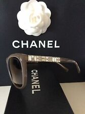 CHANEL  TAUPE JEWELLED ARMS CC SUNGLASSES