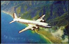 1957 American Airlines DC-7 Flagship Prop Plane Super Rare Vintage Postcard