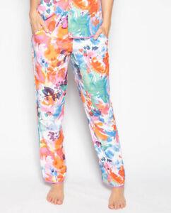 Cyberjammies Pyjama Pant Women Aimee Abstract Floral Print Blue
