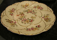 """Hand Painted Cream Color Antique Zsolnay Serving/Wall Plate 12 1/2"""""""