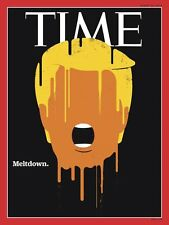 Time Magazine Donald Trump Meltdown replica magnet - new!