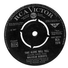 """Malcolm Roberts - Time Alone Will Tell - 7"""" Record Single"""