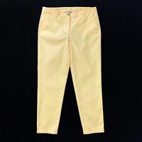 Talbots Women's Yellow Girlfriend Chino Cotton Blend Pants Size 10 EUC