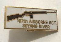 ~NOS! US MILITARY PIN 187TH AIRBORNE RCT SOYANG RIVER REGIMENT COMBAT TEAM KOREA